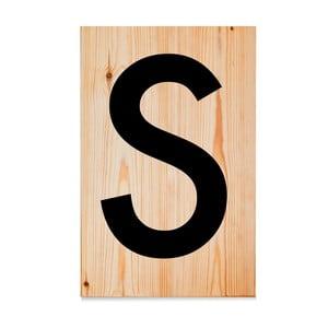 Drevená ceduľa Letters S