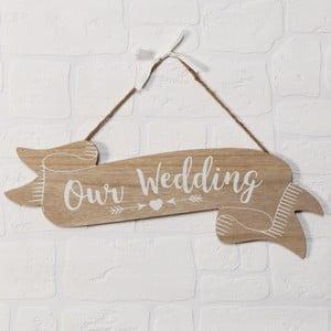 Nástenná dekorácia Celebrations Love Story Our Wedding