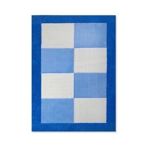 Detský koberec Mavis Blue Checks, 100x150 cm