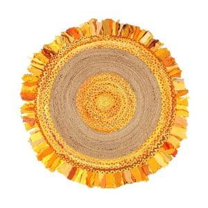 Okrúhly koberec z juty a bavlny Eco Rugs Gold, Ø 150 cm