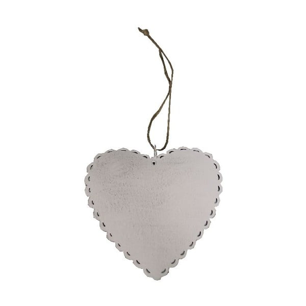 Závesná dekorácia Antic LineRomantic Heart, šírka 12 cm