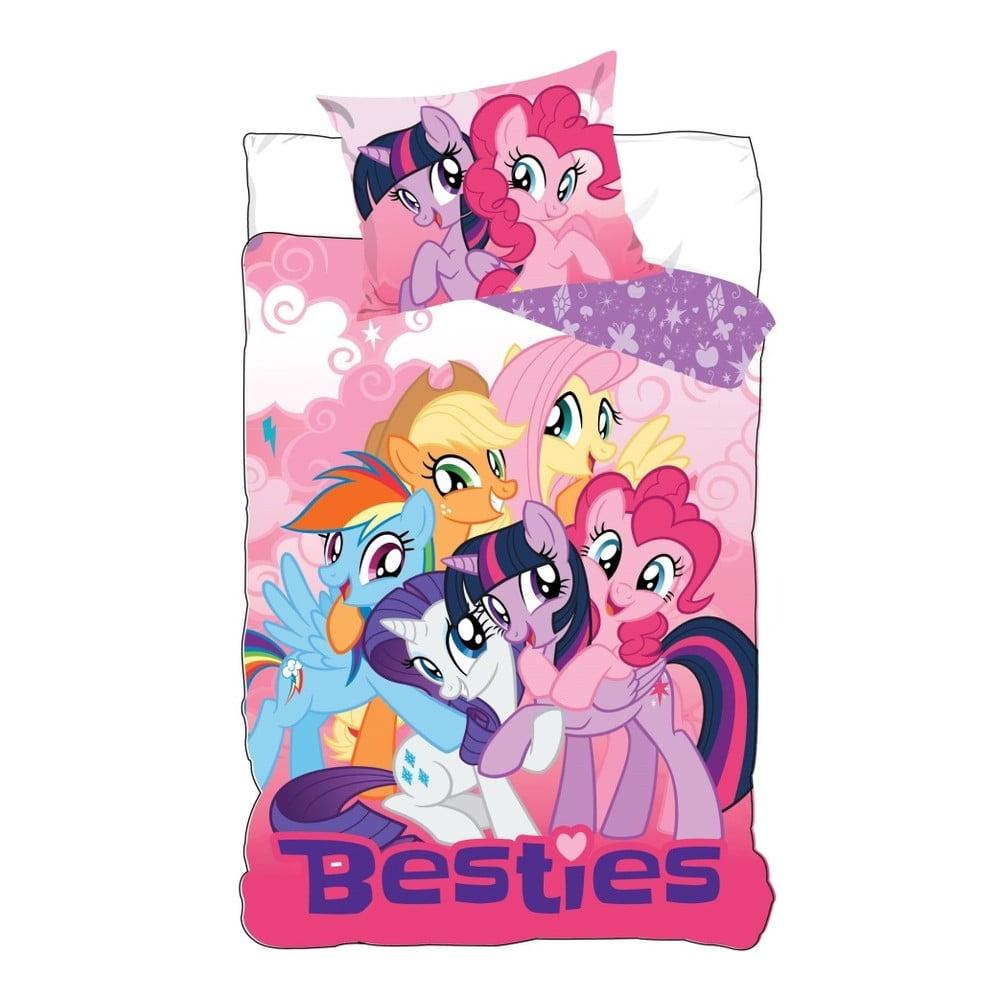 Detské bavlnené obliečky na jednolôžko CARBOTEX My Little Pony, 160 × 200 cm