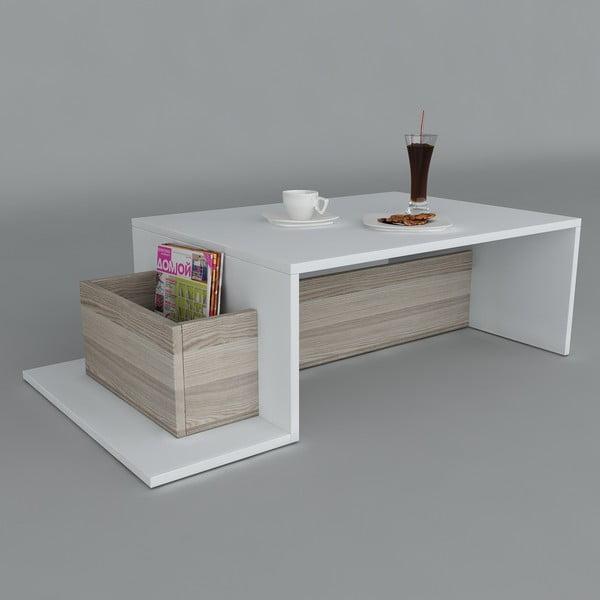 Konferenčný stolík Pot White/Cordoba, 60x106,8x32 cm