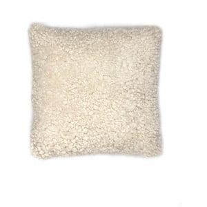 Krémovo-biely vlnený vankúš z ovčej kožušiny Auskin Banain, 35×35cm