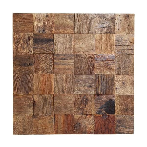 Nástenná dekorácia Wooden Natural, 60x60 cm