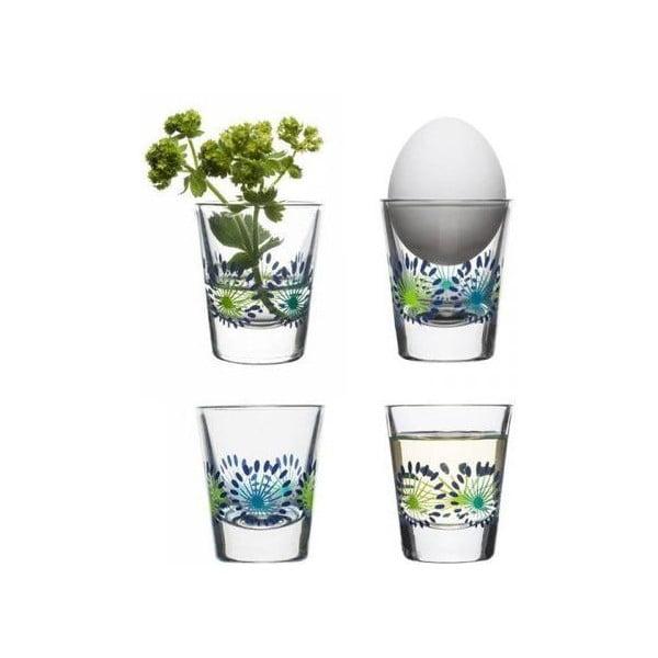 Sada 4 pohárov Fantasy 45 ml, zelená