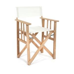 Skladacia stolička Director, biela