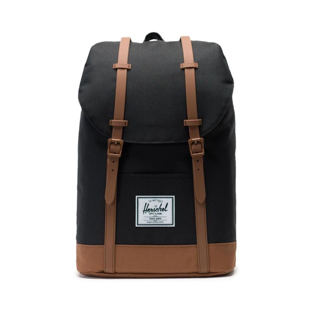 Čierny batoh s hnedými detaily Herschel Retreat, 19,5 l