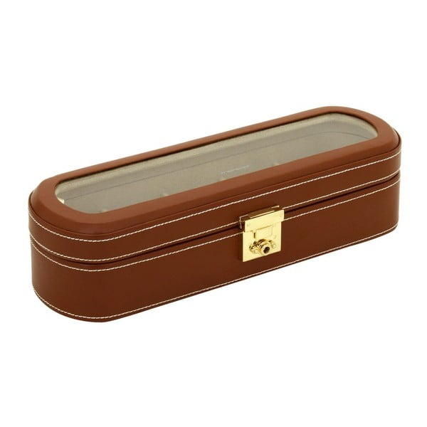 Hnedý box na 5 hodiniek Friedrich Lederwaren Cordoba