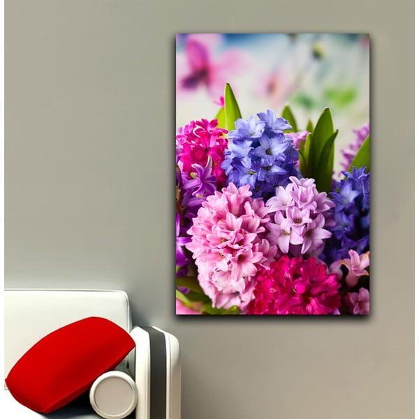 Obraz Ružová a fialová, 45x70 cm