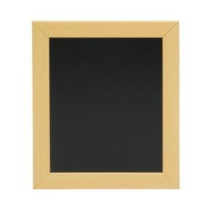 Set popisovacej tabule s rámom z borovicového dreva a kriedovej fixky Securit® Woody Frame, 20×24 cm