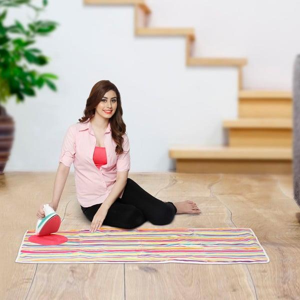 Set žehliacej podložky a zaťahovacej šnúry na prádlo Bonita Multi Strips Pink