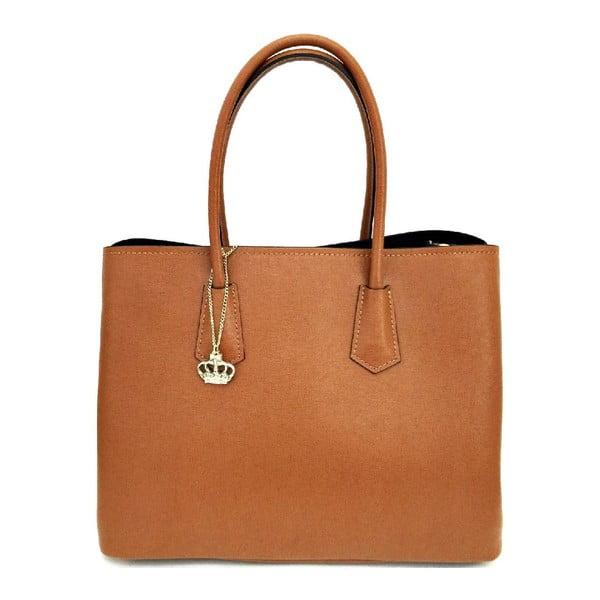 Kožená kabelka Gaia Cognac