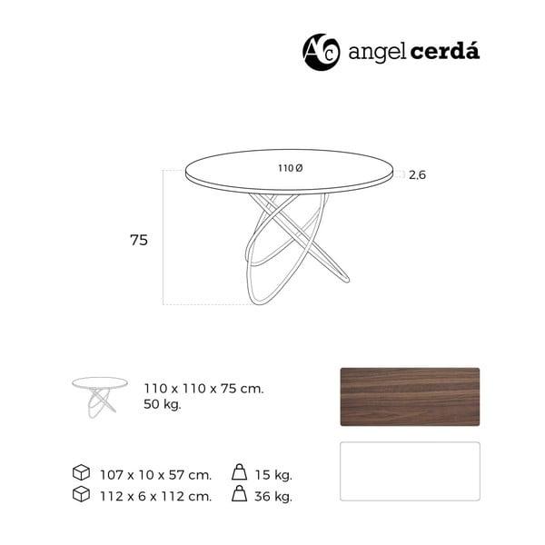 Jedálenský stôl Ángel Cerdá Adoria, Ø110cm