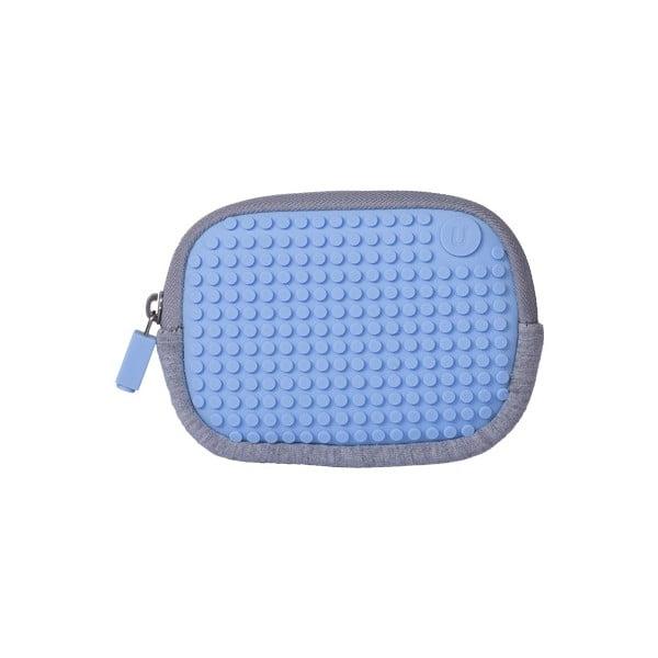 Pixelové univerzálne puzdro, grey/sky blue