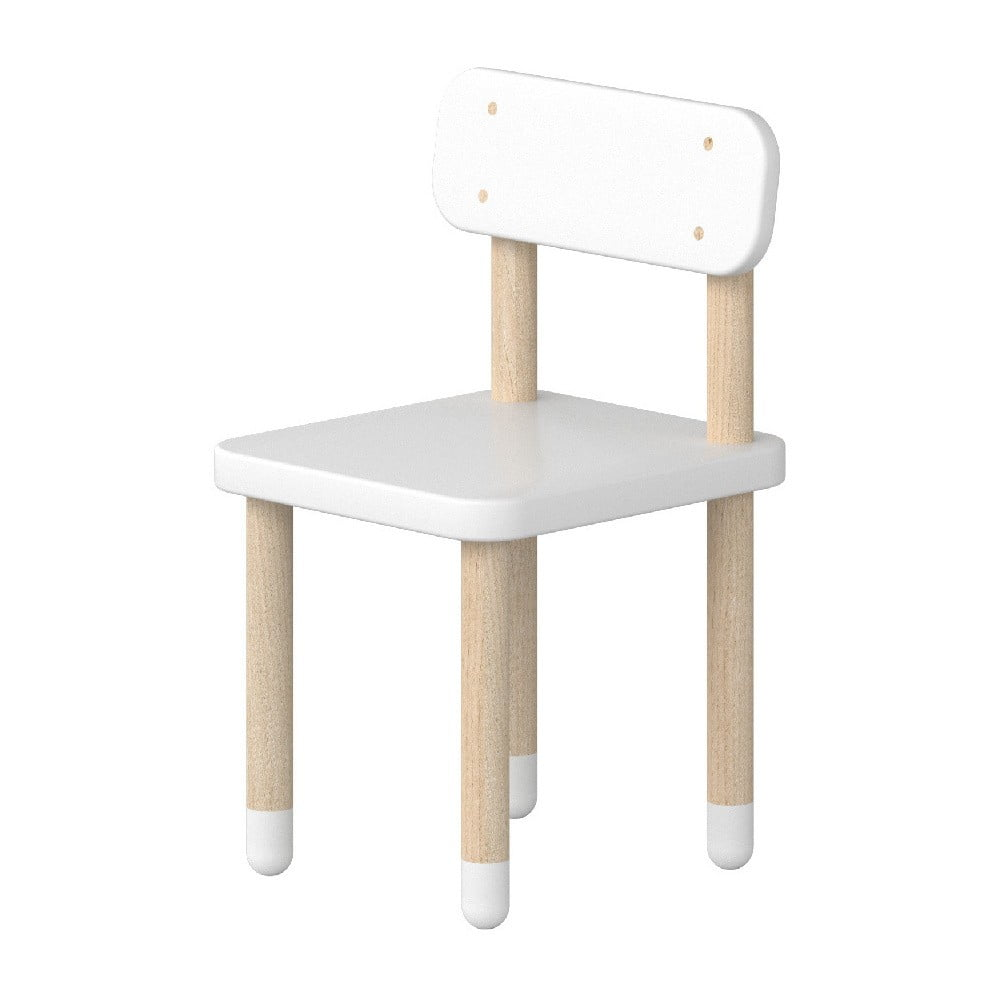 Biela detská stolička Flexa Play
