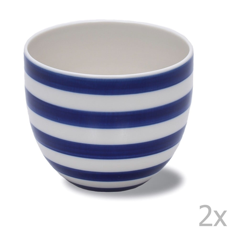 Sada 2 ručne vyrábaných porcelánových hrnčekov Anne Black Albertine