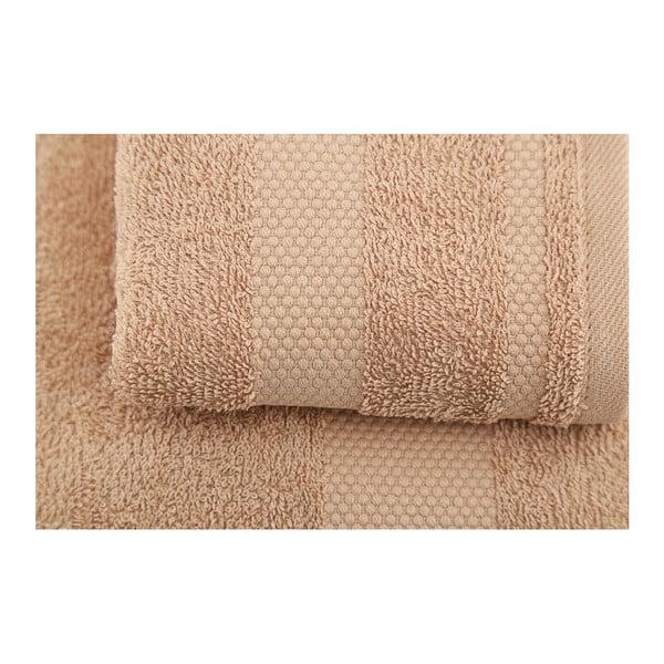 Sada 2 hnedých uterákov Clio