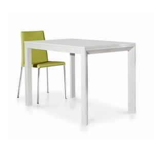 Biely drevený rozkladací jedálenský stôl Castagnetti Avolo, 130cm