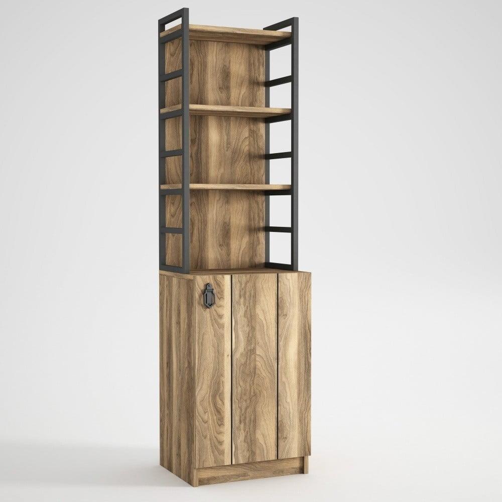 Knižnica so skrinkou v orechovom dekóre Lost