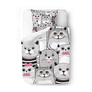 Obliečky Butter Kings Grey Kitties, 140x200 cm