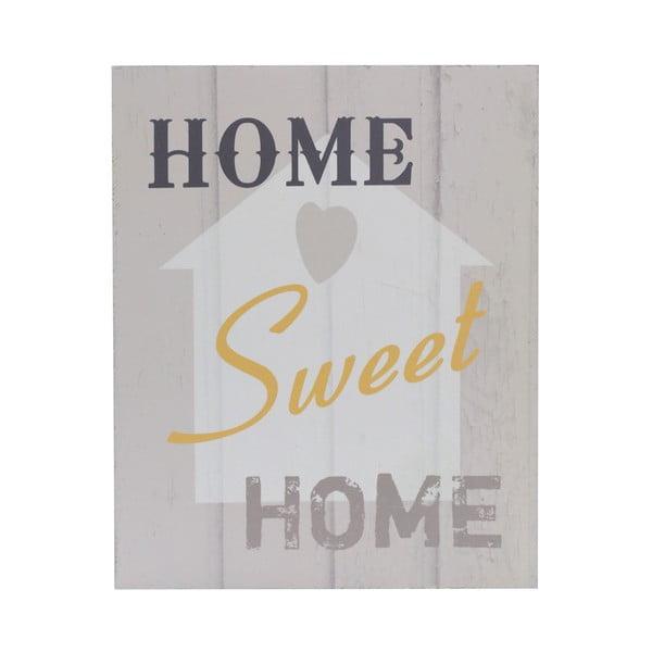 Drevený obraz Home Sweet Home, 20x25 cm