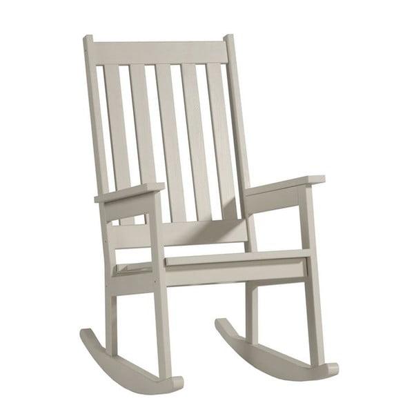Biela hojdacia stolička zmasívneho borovicového dreva Pinio Rock