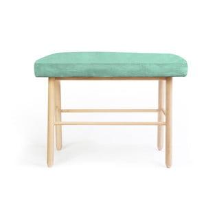 Stolička z borovicového dreva se zeleným zamatovým poťahom Velvet Atelier