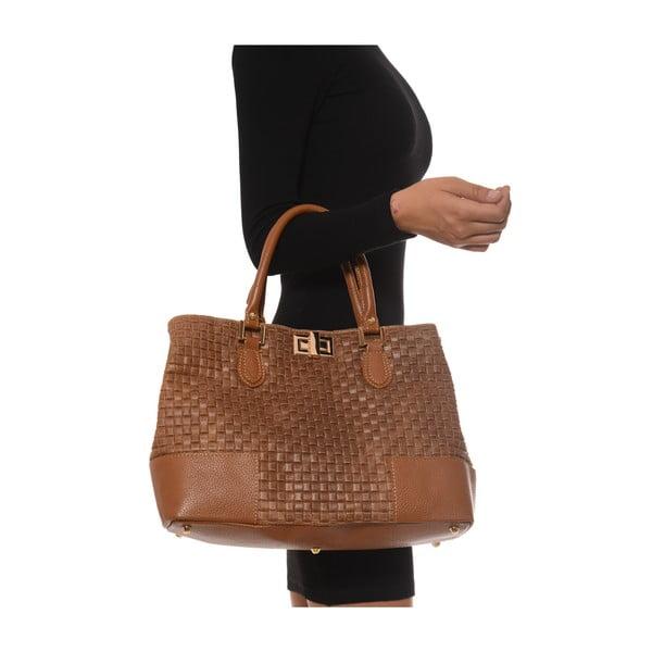 Kožená kabelka Coge, hnedá