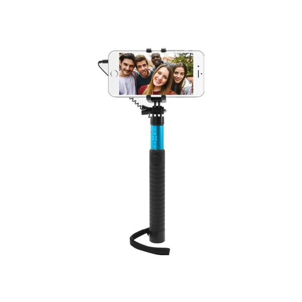 Teleskopická selfie tyč FIXED, modrá