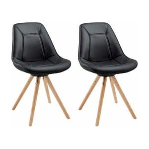 Sada 2 čiernych jedálenských  stoličiek Støraa Mel