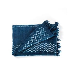 Modrý bavlnený pléd Tomasucci Jewel