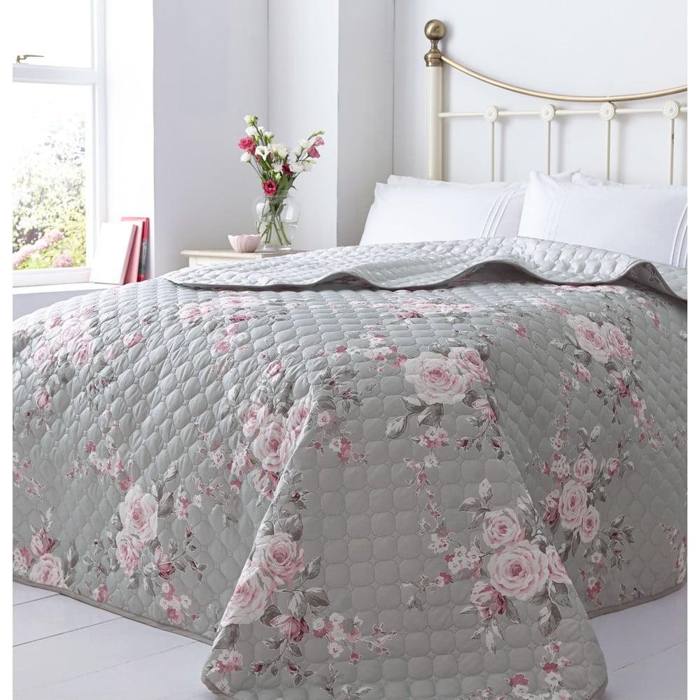 Pléd na posteľ Catherine Lansfield Canterbury Rose, 240 × 260 cm