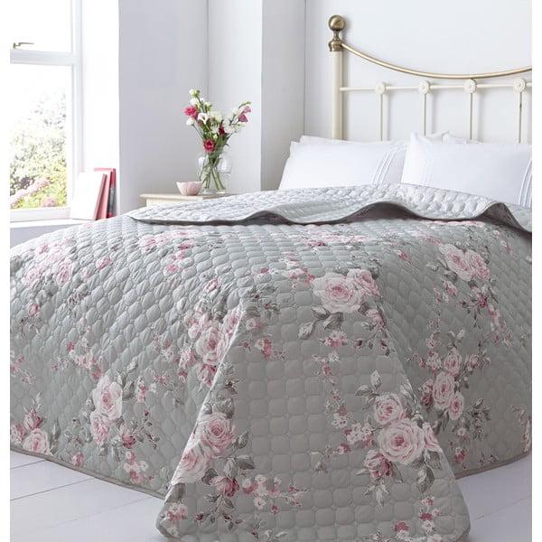 Pléd na posteľ Catherine Lansfield Canterbury Rose, 240 x 260 cm