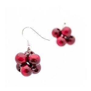 Tmavočervené náušnice ko–ra–le Berries