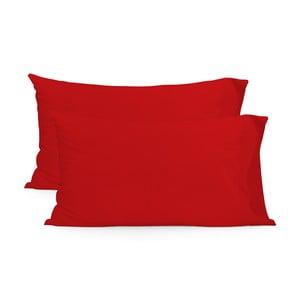 Sada 2 červených obliečok navankúš HF Living Basic, 50x80cm