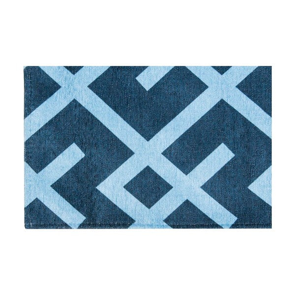 Vysokoodolný kuchynský koberec Labyrinth Blue, 60x150 cm