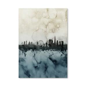 Plagát Americanflat London Town Skyline, 42 x 30 cm