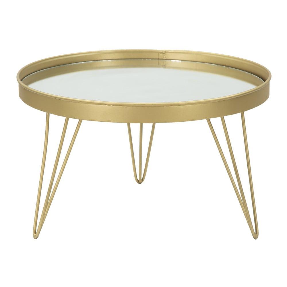 Príručný servírovací podnos v zlatej farbe na nôžkach Mauro Ferretti, ⌀ 36,5 cm
