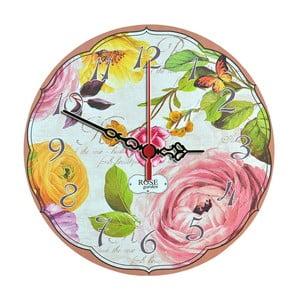 Nástenné hodiny Rose Garden, 30 cm