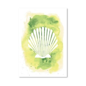 Plagát Watercolor Scallop Shell