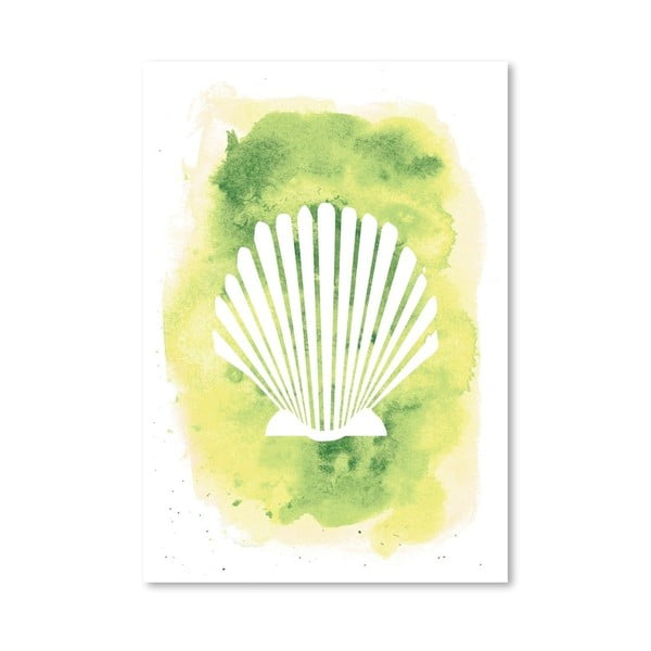 Plagát Watercolor Scallop Shell