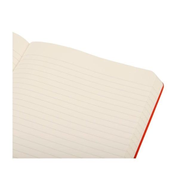 Zápisník Moleskine Daily Life Red, linajkový
