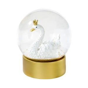 Snežiaca dekorácia s labuťou Talking Tables, ⌀ 10 cm