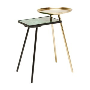 Odkladací stolík s mramorovým detailom Kare Design Plateau