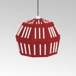Kartónové svietidlo Uno Fantasia C Red, s čiernym káblom