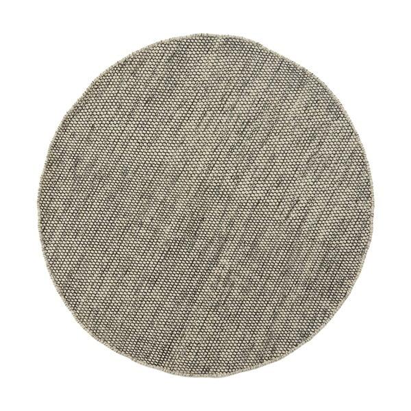Vlnený koberec Asko, 150 cm, sivobéžový