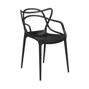 Čierna stolička Kartell Masters
