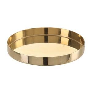 Antikoro podnos v zlatej farbe A Simple Mess Vilma, ⌀10,5cm