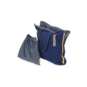 Skladací sedák Hhooboz 100x50 cm, tmavo modrý